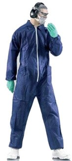 Blue - Single Use Overalls Dust-tight non-certified products